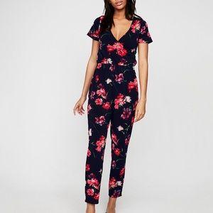Express Floral Flutter SleeveJumpsuit